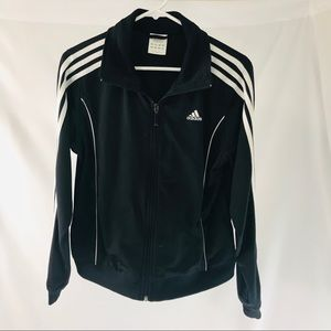 Adidas Track Jacket Triple Stripe Black & White